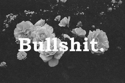 bullshit, flowers, and fuck image