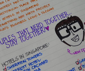 doodle, nerd, and planner image