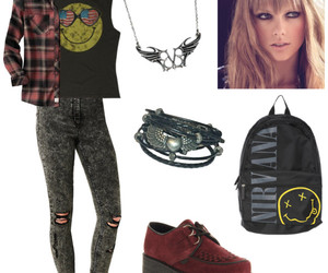 clothes, rock, and grunge image