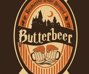 harry potter, butterbeer, and book image