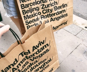 american apparel, shopping, and bag image