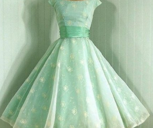 dress, vintage, and green image