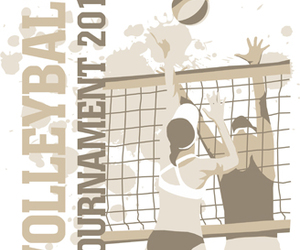 Action, activity, and volleyball image