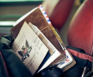 travel, camera, and passport image
