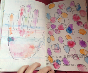 colorful, handprints, and ideas image