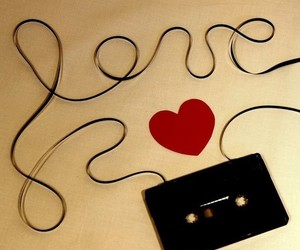 love, heart, and music image