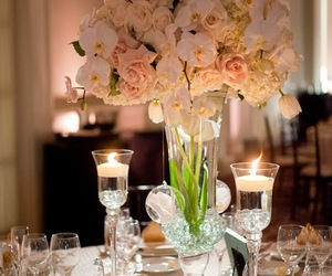 centerpiece, flowers, and orchid image