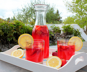 drink, lemon, and juice image