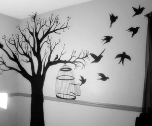 b&w, black and white, and bird image