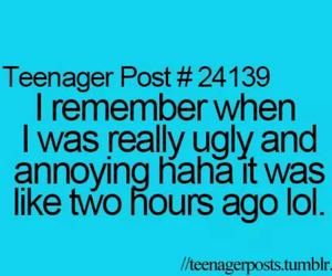 teenager post, funny, and ugly image