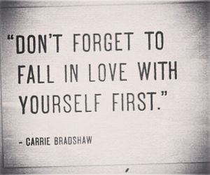 Carrie Bradshaw, fall in love, and true image