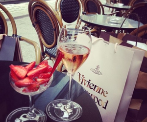 strawberry, luxury, and shopping image