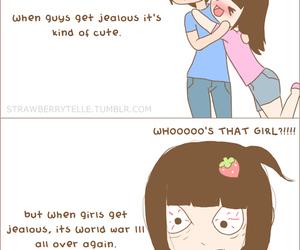 jealous, boy, and couple image