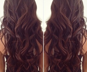 hair, brunette, and curls image