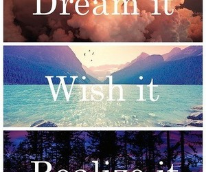 Dream, wish, and realize image