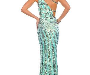 dress, prom dress, and stylish image