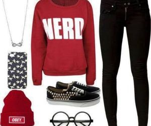 nerd, outfit, and vans image