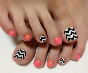 nails, nail art, and pedicure image