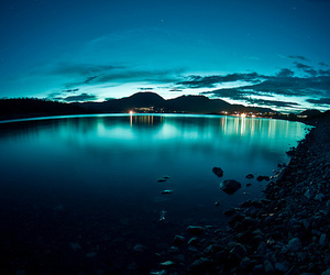 blue, water, and night image