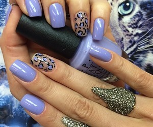 nails, lilac, and purple image