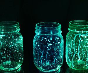 beautiful, blue, and jars image