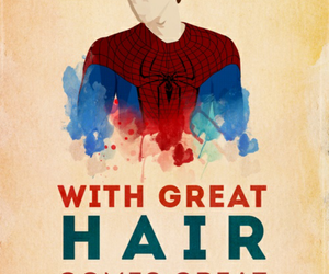 spiderman, the amazing spiderman, and hair image