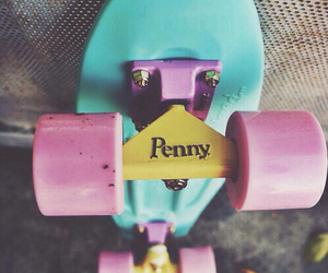penny, skate, and pink image