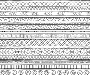 doodle, geometric, and pattern image
