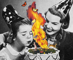 birthday, Collage, and fire image