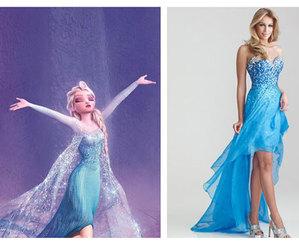 blue, disney, and dresses image