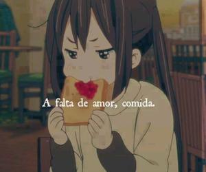 love, food, and anime image