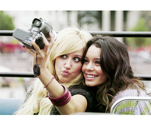 ashley tisdale, best friends, and camera image