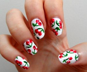 nails and fruit image