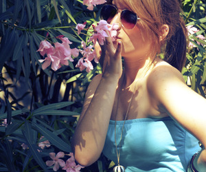 beautiful, flower, and girl image