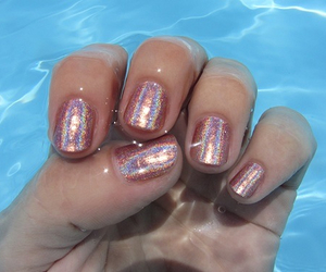 nails, glitter, and grunge image