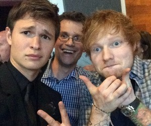 ed sheeran, john green, and ansel elgort image