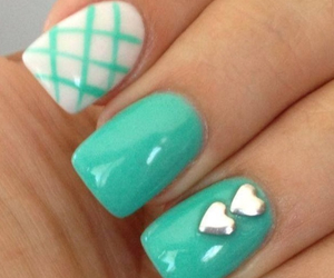blue, heart, and nails image