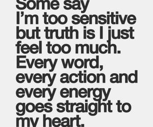 quotes, heart, and sensitive image