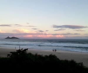 beach, praia, and sky image