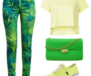 clothes, green, and outfit image