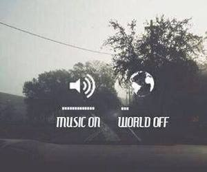 music and music on world off image