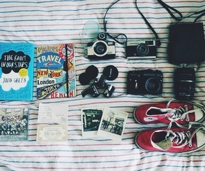 camera, book, and converse image