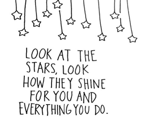 stars, quotes, and coldplay image
