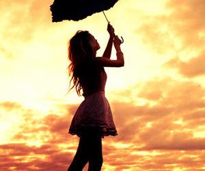 girl, umbrella, and dress image