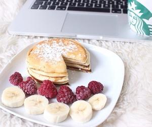 banana, breakfast, and starbucks image
