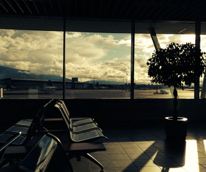airport, deserted, and destination image