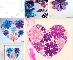 heart, diy, and flowers image