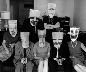 1962, masks, and new york city image
