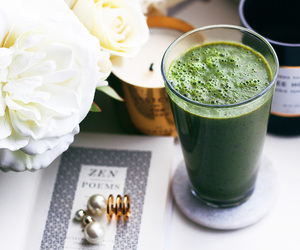 smoothie, drink, and flowers image