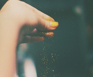 glitter, hand, and photography image